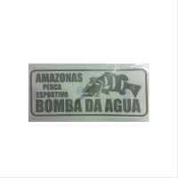 BOMBA DA AGUA Sticker L-Size  Gray Metallic