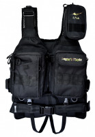 APIA ANGLER'S SUPPORT VEST Ver3 BLACK * WOODLAND CAMO