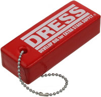 DRESS Floating Keychain   Red