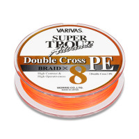 VARIVAS Super Trout Advance Double Cross PE x8 [Fluorescent Orange-Based Marking Line] 100m #1 (10lb)