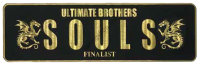 SOULS Plate Sticker  Black / Gold