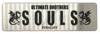SOULS Plate Sticker  Silver / Black