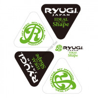 RYUGI AST075 Delta Sticker  White / Black