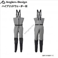 Anglers Design ADW-12 Hybrid Chest Waders III Gray 3L
