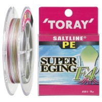TORAY Salt Line PE Super Eging F4 [3color] 150m #0.8 (12lb)
