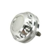 Alfa Tackle A co-UPA-007 AluMinium Handle Cap U Silver