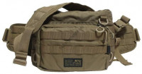 LINHA MSB-03N2 2Way Waist Bag Grouper Type 4  Khaki
