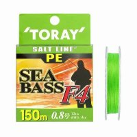 TORAY Salt Line PE SeaBass F4 [Light Green] 150m #0.8 (12lb)