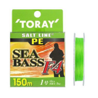 TORAY Salt Line PE SeaBass F4 [Light Green] 150m #1 (15lb)