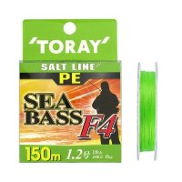 TORAY Salt Line PE SeaBass F4 [Light Green] 150m #1.2 (18lb)