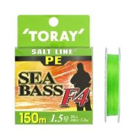 TORAY Salt Line PE SeaBass F4 [Light Green] 150m #1.5 (20lb)