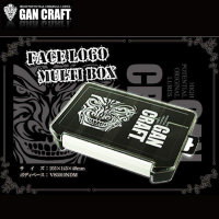 GAN CRAFT Face Logo Multi Box  #02 Clear / Black