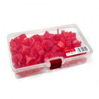 MEIHO Hook Safety Cover L Red  (Case 100 pcs)