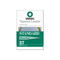 VARIVAS TAPERED LEADER STANDARD ST 12ft 4X TL-15 MISTY GREEN
